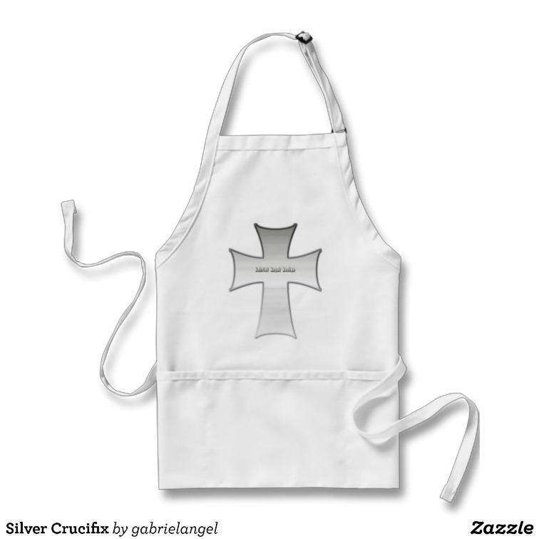 Silver Crucifix Apron