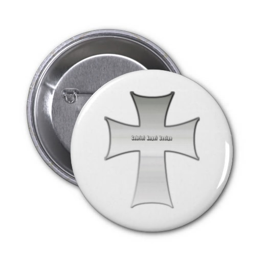 Silver Crucifix Buttons