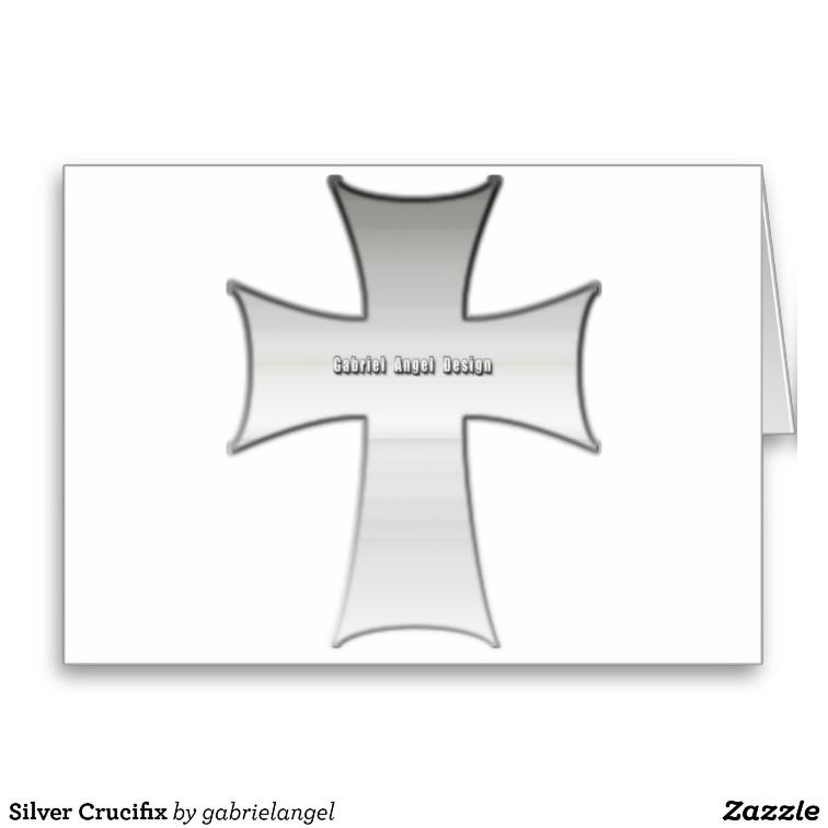 Silver Crucifix Greeting Card