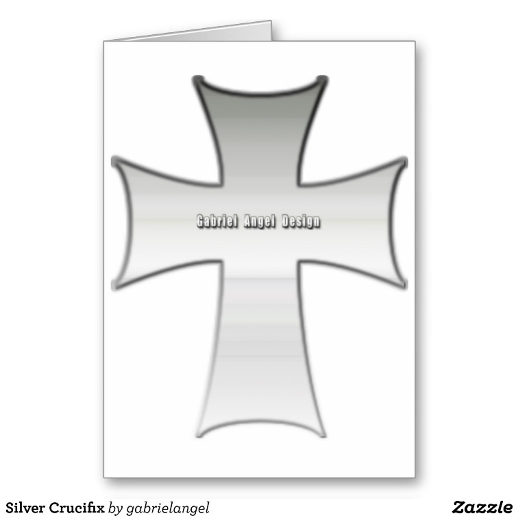 Silver Crucifix Greeting Cards