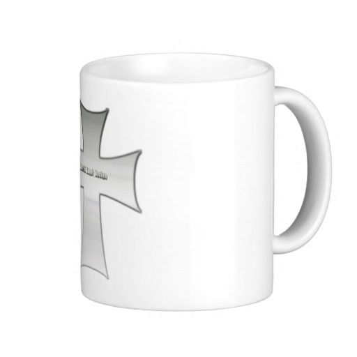 Silver Crucifix Mugs