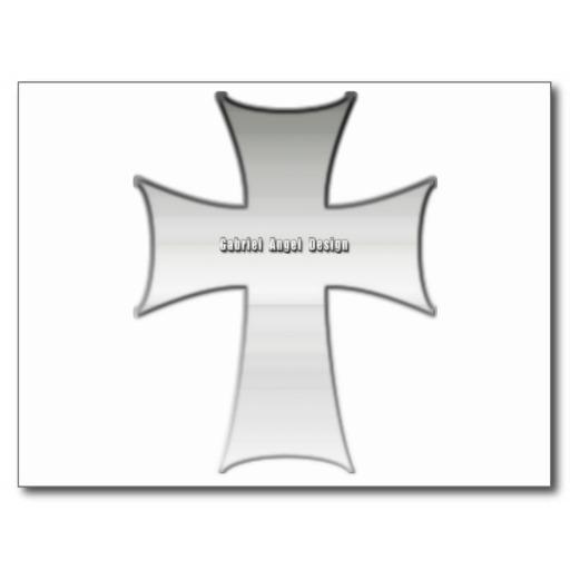 Silver Crucifix Post Card