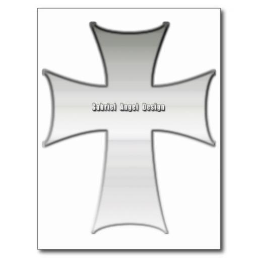 Silver Crucifix Postcards