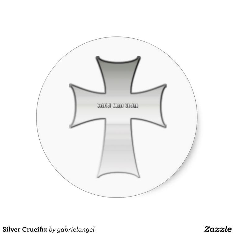 Silver Crucifix Stickers