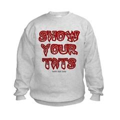 Show Your Tats Kids Crewneck Sweatshirt by Hanes