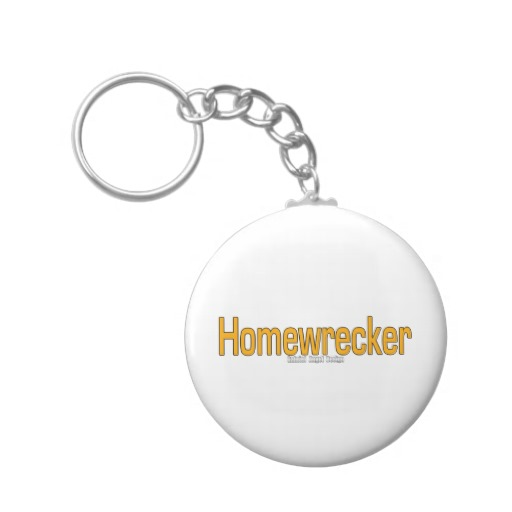 Homewrecker Basic Button Keychain