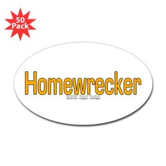Homewrecker Oval Sticker (50 pk)