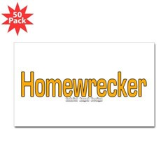 Homewrecker Rectangle Sticker 50 pk)