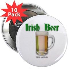 "Irish Beer 2.25"" Button (10 pack)"