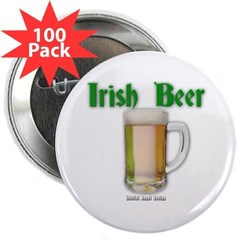 "Irish Beer 2.25"" Button (100 pack)"