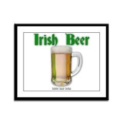 Irish Beer Framed Panel Print