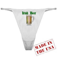 Irish Beer Ladies Thong Underwear