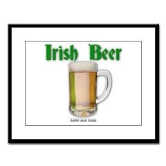 Irish Beer Large Framed Print