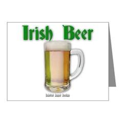 Irish Beer Note Cards (Pk of 20)