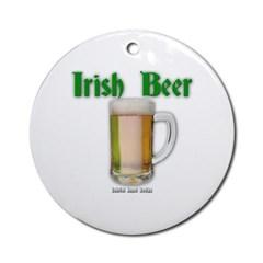 Irish Beer Ornament (Round)