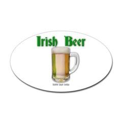 Irish Beer Oval Decal