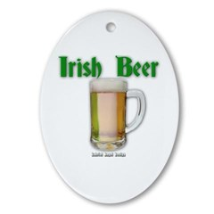 Irish Beer Oval Ornament