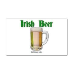 Irish Beer Rectangle Decal