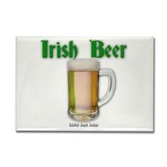 Irish Beer Rectangle Magnet