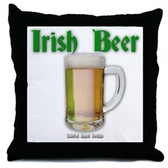 Irish Beer Throw Pillow