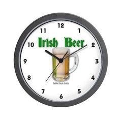 Irish Beer Wall Clock