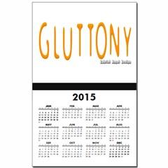 Gluttony Logo Calendar Print