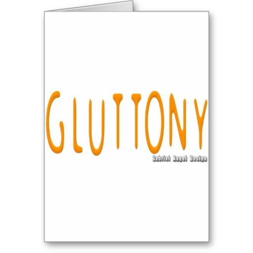 Gluttony Logo Greeting Card
