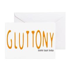 Gluttony Logo Greeting Cards (Pk of 20)
