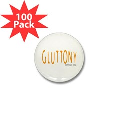 Gluttony Logo Mini Button (100 pack)