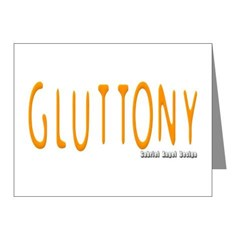 Gluttony Logo Note Cards (Pk of 10)