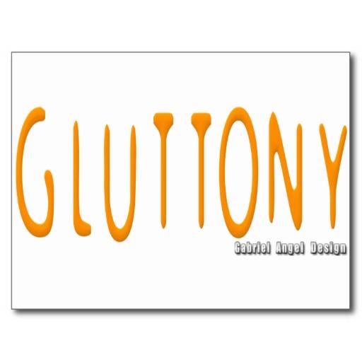 Gluttony Logo Postcard