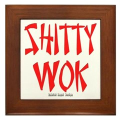 Shitty Wok Framed Tile