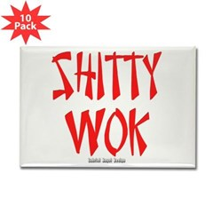 Shitty Wok Rectangle Magnet (10 pack)