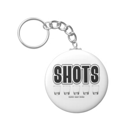 Shots Basic Button Keychain