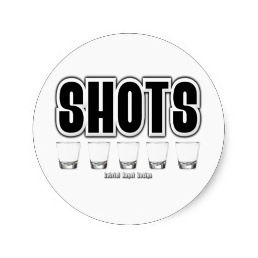 Shots Classic Round Sticker