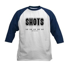 Shots Kids Baseball Jersey T-Shirt