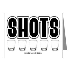 Shots Note Cards (Pk of 20)