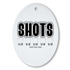 Shots Oval Ornament