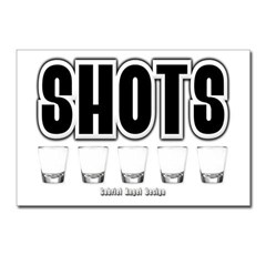 Shots Postcards (Package of 8)