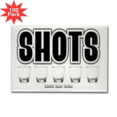 Shots Rectangle Magnet (100 pack)
