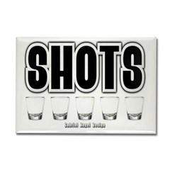 Shots Rectangle Magnet