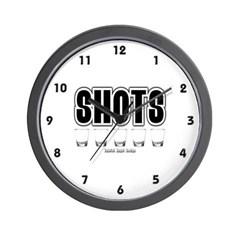 Shots Wall Clock