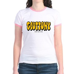 Gluttony (Thick) Junior Ringer T-Shirt