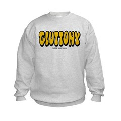Gluttony (Thick) Kids Crewneck Sweatshirt by Hanes
