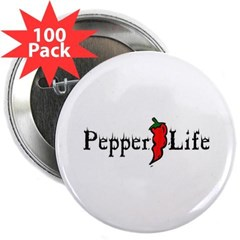 """Pepper Life 2.25"""" Button (100 pack)"""