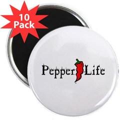 """Pepper Life 2.25"""" Magnet (10 pack)"""