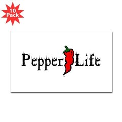 Pepper Life Rectangle Decal 10 pack