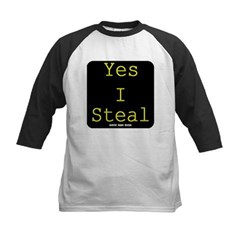Yes I Steal Kids Baseball Jersey T-Shirt