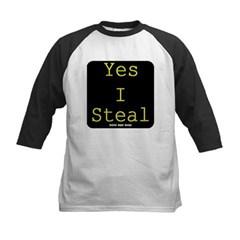 Yes I Steal Kids Baseball Jersey T-Shirt