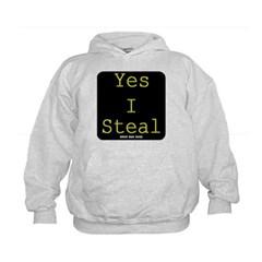 Yes I Steal Kids Sweatshirt by Hanes